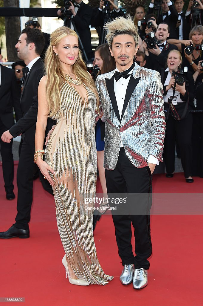 Paris Hilton (L) attends the 'Inside Out' Premiere during the 68th annual Cannes Film Festival on May 18, 2015 in Cannes, France.