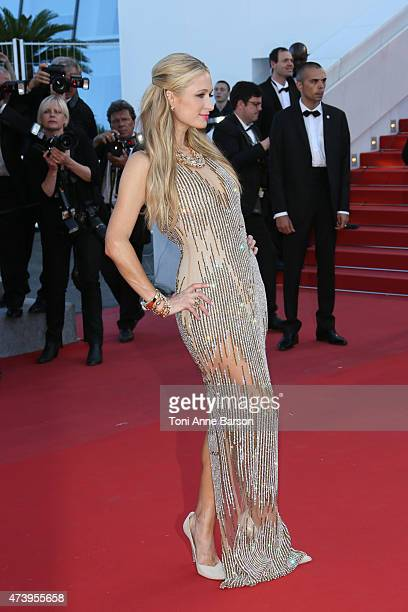 Paris Hilton attends the 'Inside Out' premiere during the 68th annual Cannes Film Festival on May 18 2015 in Cannes France