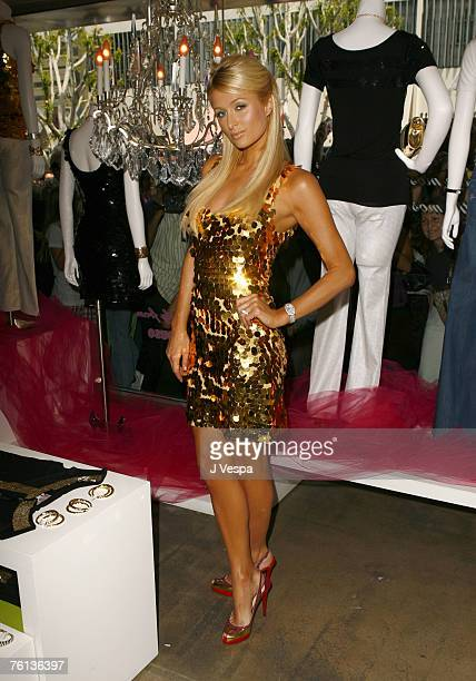BEVERLY HILLS CA AUGUST 16 Paris Hilton attends the launch of her Denim and Sportswear line at Kitson on August 16 2007 in Beverly Hills California