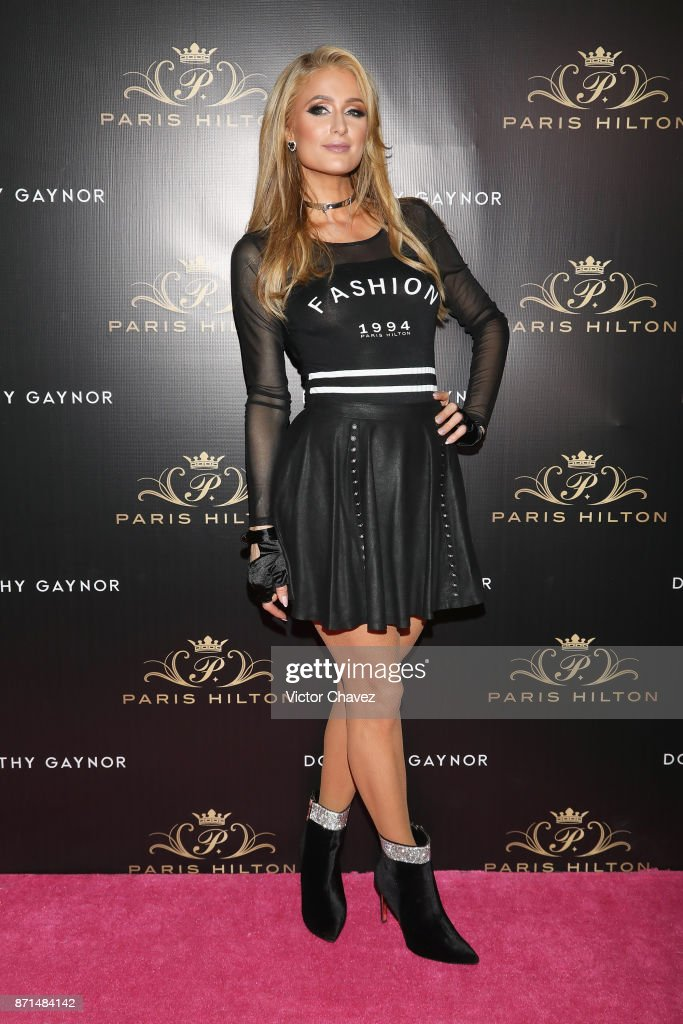 Paris Hilton attends the launch of her new shoe line for Dorothy Gaynor at Pabellon Polanco on November 7, 2017 in Mexico City, Mexico.