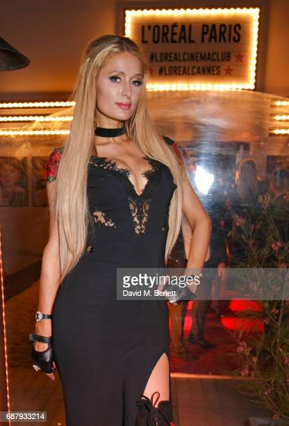 Paris Hilton attends the L'Oreal Paris Cinema Club party celebrating L'Oreal's 20th anniversary as the official beauty partner of the Cannes Film...