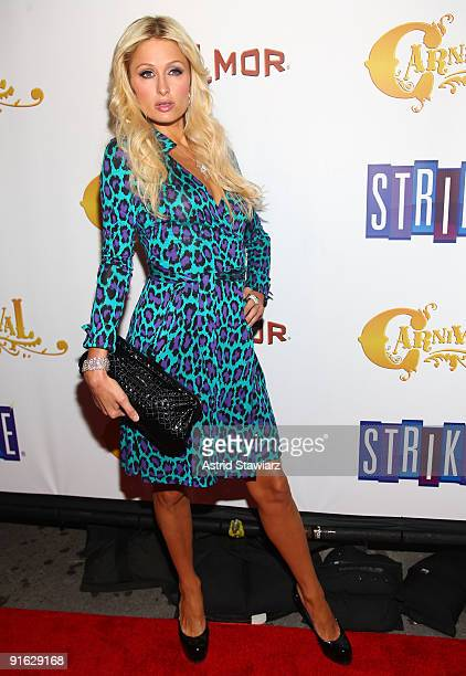 Paris Hilton attends the opening of Carnival at Bowlmor Lanes on October 8 2009 in New York City