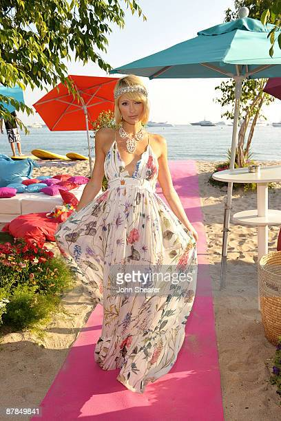 Paris Hilton attends the Paris Not France Cocktail Party at the 314 Beach during the 62nd Cannes Film Festival on May 19 2009 in Cannes France