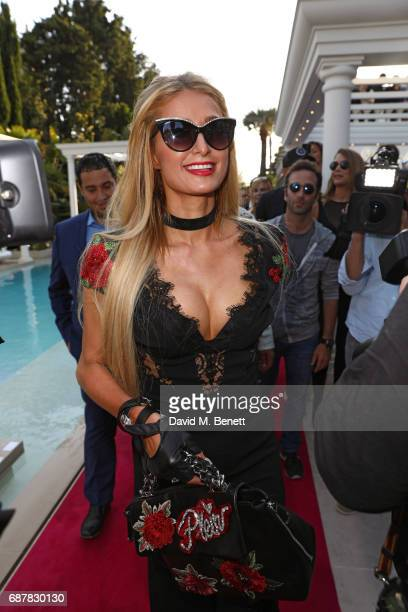 Paris Hilton attends the Philipp Plein Cruise Show 2018 during the 70th annual Cannes Film Festival at on May 24 2017 in Cannes France