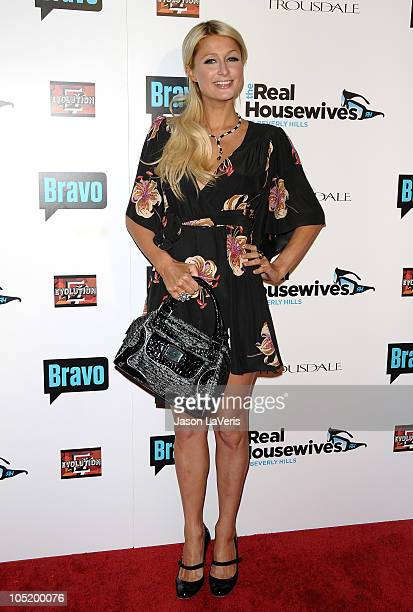 "Paris Hilton attends ""The Real Housewives of Beverly Hills"" series premiere party at Trousdale on October 11, 2010 in West Hollywood, California."