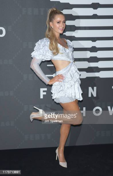 Paris Hilton attends the Savage x Fenty arrivals during New York Fashion Week at Barclays Center on September 10 2019 in New York City
