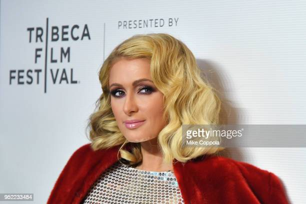 Paris Hilton attends the screening of The American Meme during the 2018 Tribeca Film Festival at Spring Studios on April 27 2018 in New York City