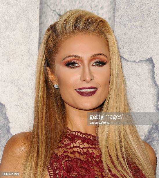 Paris Hilton attends the season 3 premiere of The Leftovers at Avalon Hollywood on April 4 2017 in Los Angeles California