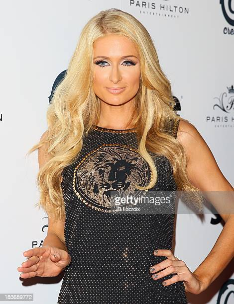 Paris Hilton attends the single release party for her single 'Good Time' at Crate Nightclub on October 8 2013 in Hollywood California