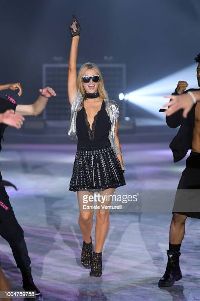 Paris Hilton attends the Tezenis show on July 24 2018 in Verona Italy