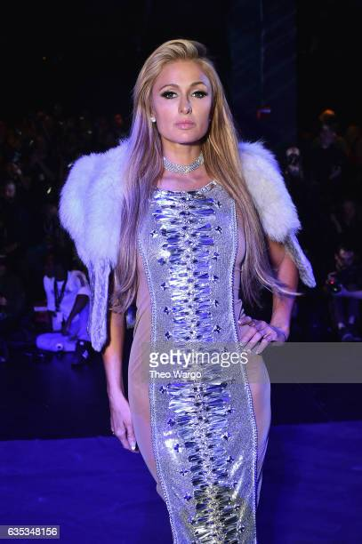 Paris Hilton attends the The Blonds collection during New York Fashion Week The Shows at Gallery 1 Skylight Clarkson Sq on February 14 2017 in New...