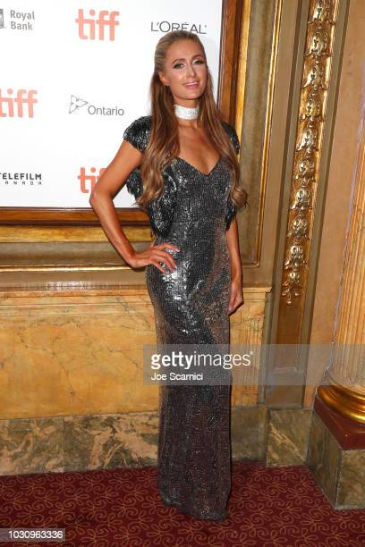 Paris Hilton attends the 'The Death And Life Of John F Donovan' premiere during 2018 Toronto International Film Festival at Winter Garden Theatre on...