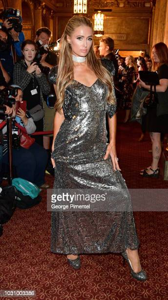 """Paris Hilton attends the """"The Death And Life Of John F. Donovan"""" premiere during 2018 Toronto International Film Festival at Winter Garden Theatre on..."""
