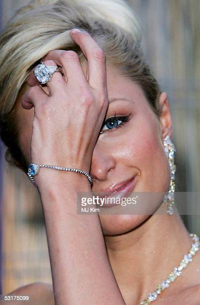 Paris Hilton attends the The Serpentine Gallery Summer P at the Serpentine Gallery on June 30 2005 in London England The annual party is this year...