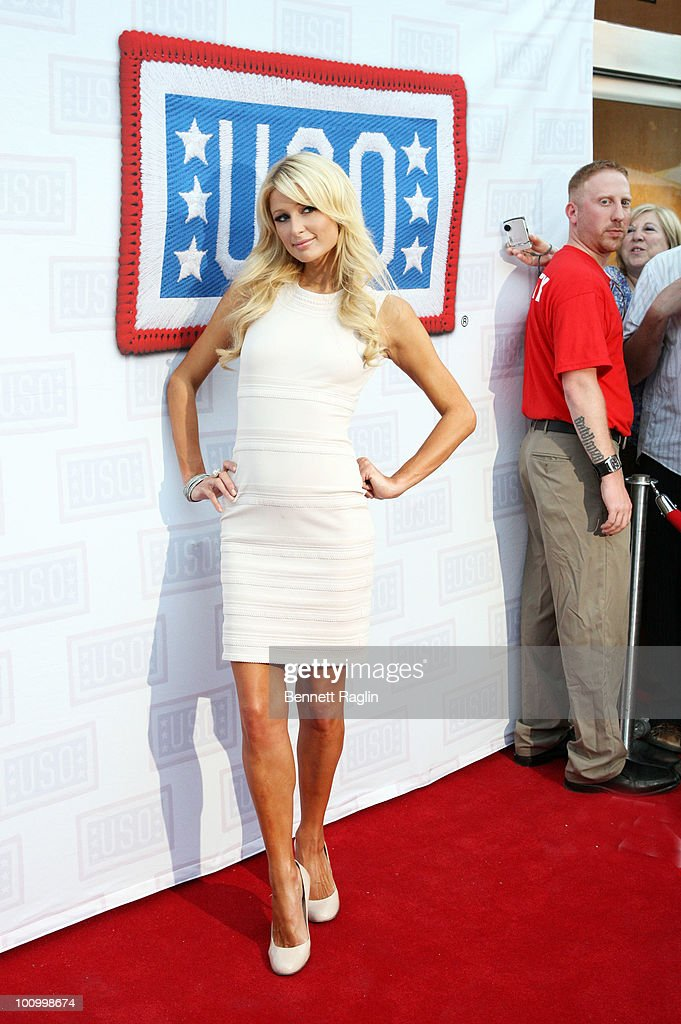 Paris Hilton attends the USO Swinging Salute to our Troops Fleet Week kick off at The Union Square Ballroom on May 26, 2010 in New York City.
