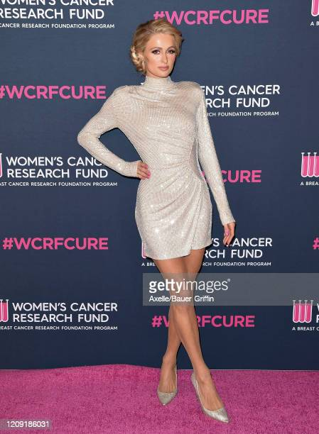 Paris Hilton attends The Women's Cancer Research Fund's An Unforgettable Evening 2020 at Beverly Wilshire A Four Seasons Hotel on February 27 2020 in...