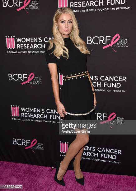 Paris Hilton attends The Women's Cancer Research Fund's An Unforgettable Evening Benefit Gala at the Beverly Wilshire Four Seasons Hotel on February...