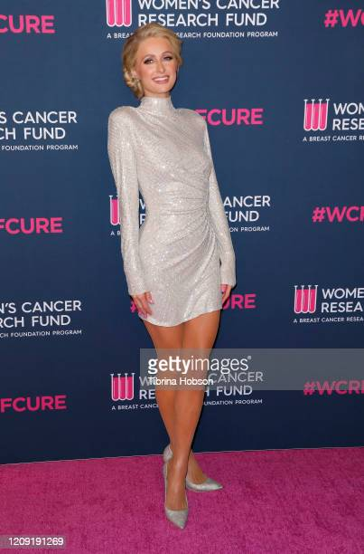 Paris Hilton attends The Women's Cancer Research Fund's Unforgettable Evening 2020 at Beverly Wilshire A Four Seasons Hotel on February 27 2020 in...