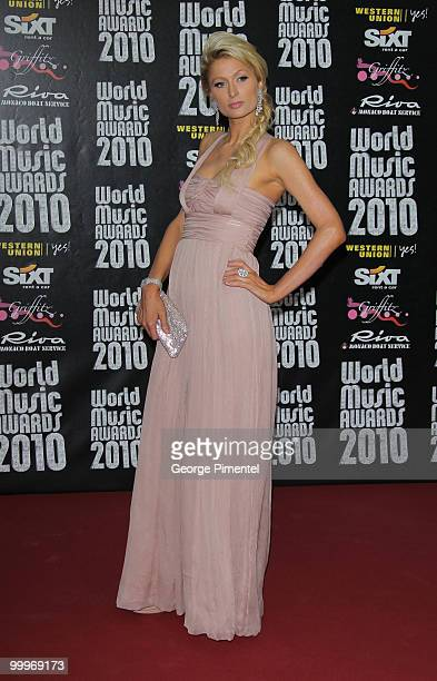 Paris Hilton attends the World Music Awards 2010 at the Sporting Club on May 18, 2010 in Monte Carlo, Monaco.
