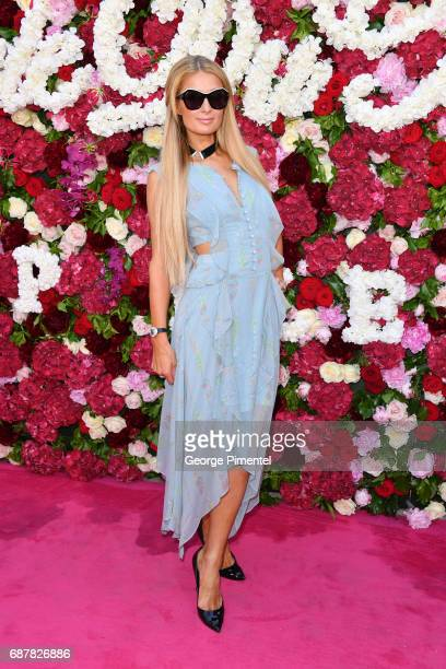 Paris Hilton attends the/walks the runway at the Philipp Plein Cruise Show 2018 during the 70th annual Cannes Film Festival at on May 24 2017 in...