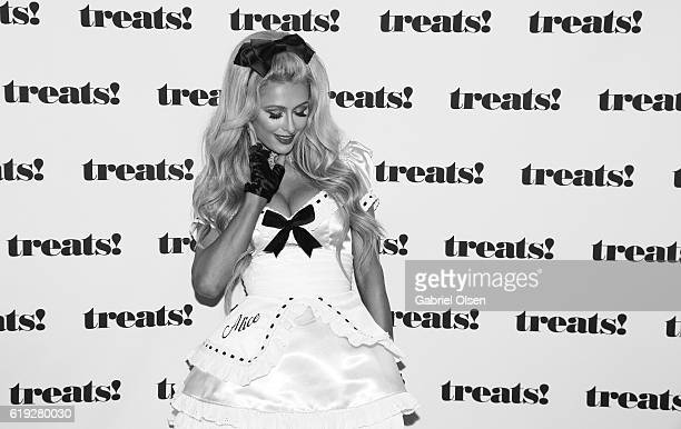 Paris Hilton attends Trick or treats The 6th Annual treats Magazine Halloween Party Sponsored by Absolut Elyx on October 29 2016 in Los Angeles...
