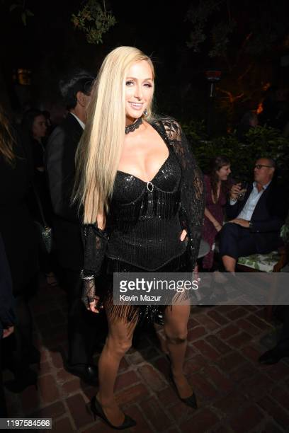 Paris Hilton attends Vanity Fair Amazon Studios and Audi Celebrate The 2020 Awards Season at San Vicente Bungalows on January 04 2020 in West...