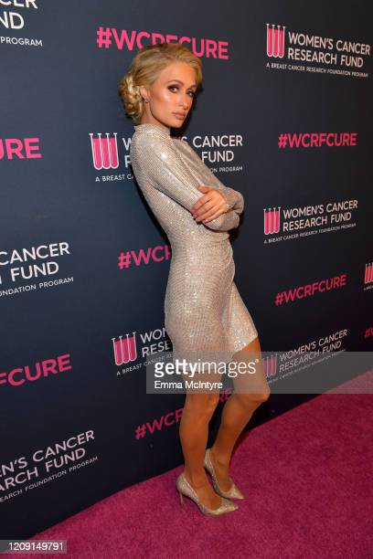 Paris Hilton attends WCRF's An Unforgettable Evening at Beverly Wilshire A Four Seasons Hotel on February 27 2020 in Beverly Hills California