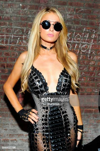 Paris Hilton backstage at The Blonds show during New York Fashion Week The Shows at Skylight Clarkson Sq on September 12 2017 in New York City