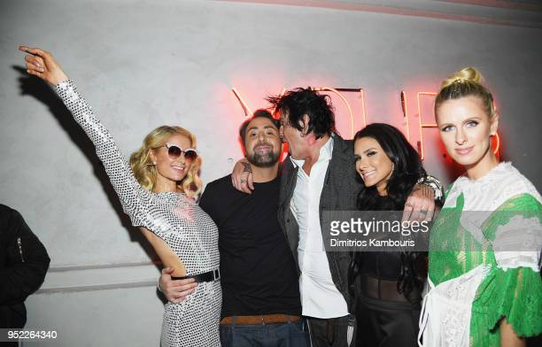 Paris Hilton Bert Marcus Tommy Lee Brittany Furlan and Nicky Hilton attend the 2018 Tribeca Film Festival World Premiere of Bert Marcus' THE AMERICAN...