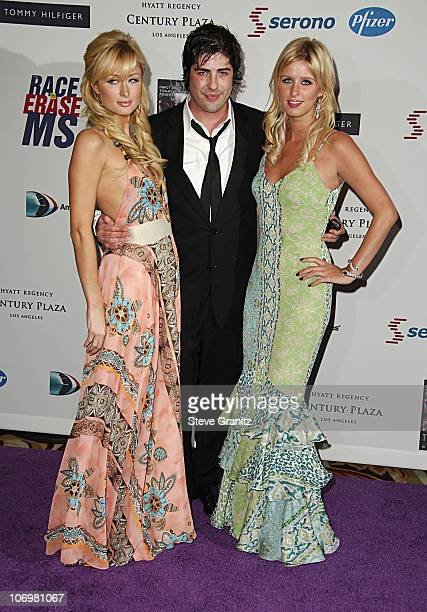 Paris Hilton, Brandon Davis and Nicky Hilton during 13th Annual Race to Erase MS Sponsored by Nancy Davis and Tommy Hilfiger - Arrivals at Hyatt...