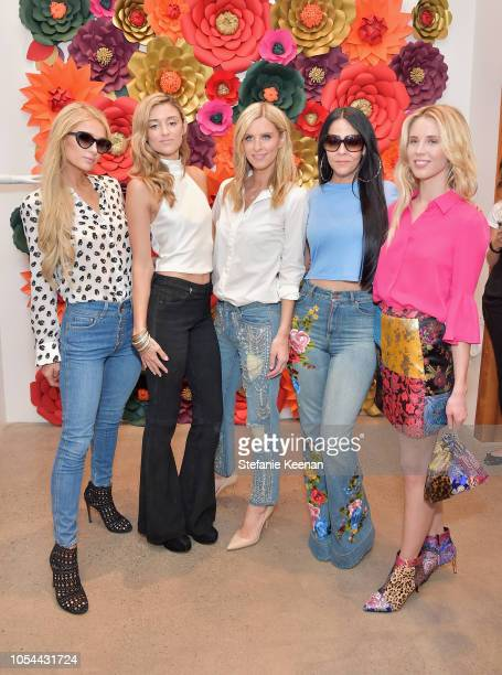 Paris Hilton Caroline D'Amore Nicky Hilton Rothschild Allison Melnick and Tessa Hilton attend Nancy Davis Kathy Hilton Paris Hilton Nicky Rothschild...