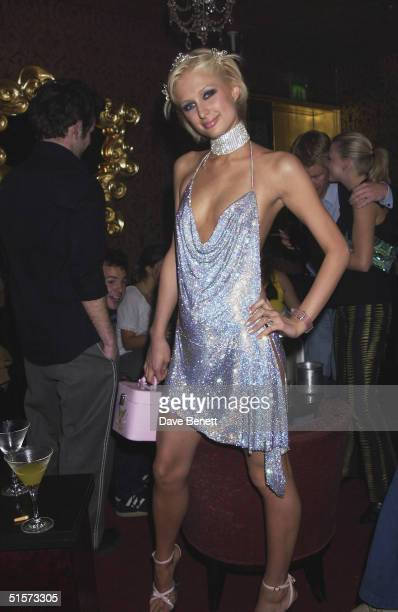 Paris Hilton celebrates her 21st Birthday Party at the Stork Rooms in Swallow Street on May 3 2002 in London