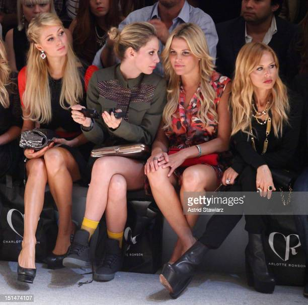 Paris Hilton Corey Kennedy Ali Wise and Rachel Zoe attend the Charlotte Ronson SS13 Show at The Stage at Lincoln Center on September 7 2012 in New...