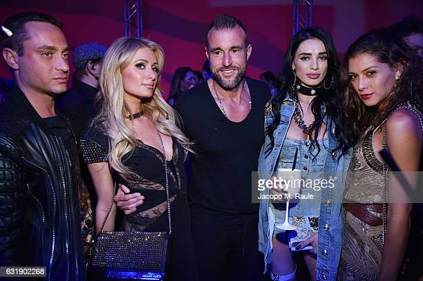 Paris Hilton Designer Philipp Plein Andreea Sasu and guests attend the Plein Sport party during Milan Men's Fashion Week Fall/Winter 2017/18 on...