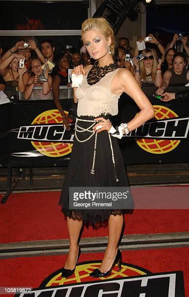 Paris Hilton during 17th Annual MuchMusic Video Awards - Red Carpet at Chum/City Building in Toronto, Ontario, Canada.