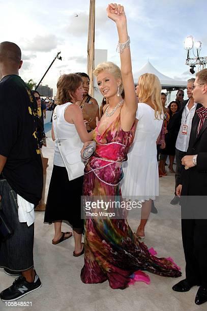 Paris Hilton during 2005 MTV Video Music Awards - Arrivals at American Airlines Arena in Miami, Florida, United States.