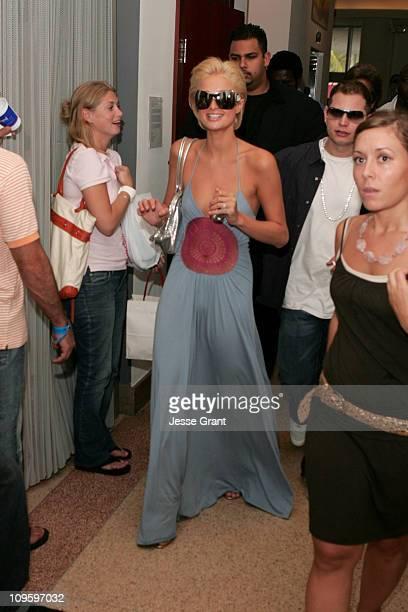 Paris Hilton during 2005 MTV VMA Borgata Cabana Suites Day 2 at Sagamore Hotel in Miami Florida United States