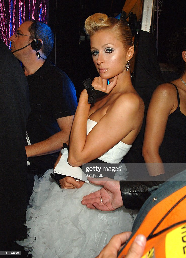 Paris Hilton during 2006 MTV Video Music Awards - Backstage at Radio City Music Hall in New York, New York, United States.