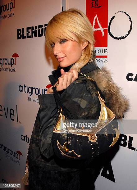 Paris Hilton during 2006 Park City The Blender Sessions at Tao Launch Party for CANANA Productions at Tao in Park City Utah United States