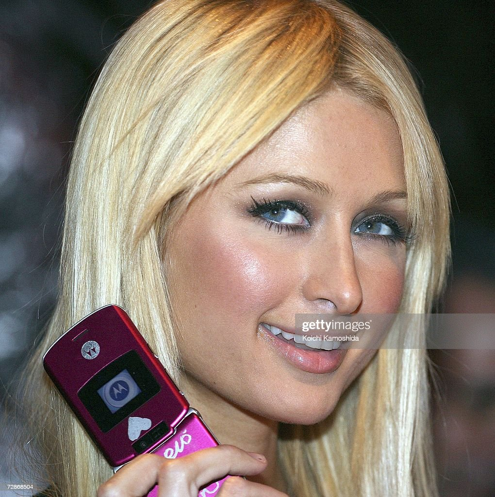Paris Hilton Attends Mobile Phone Event In Japan