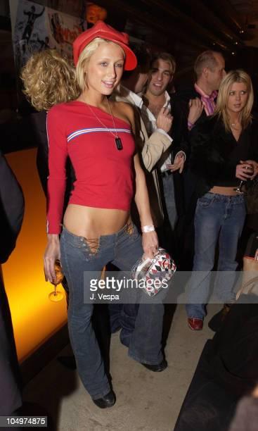 Paris Hilton during AJ-Armani Jeans and Vibe Celebrate Craig David's North American Tour at Emporio Armani in New York City, New York, United States.