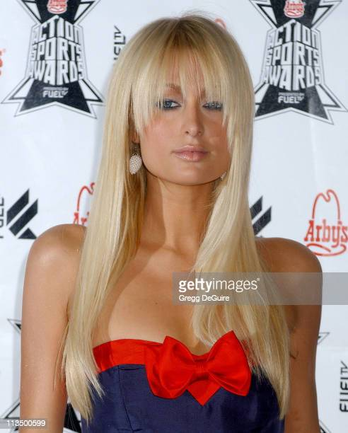 Paris Hilton during Arby's Action Sports Awards Arrivals at Center Staging in Burbank California United States