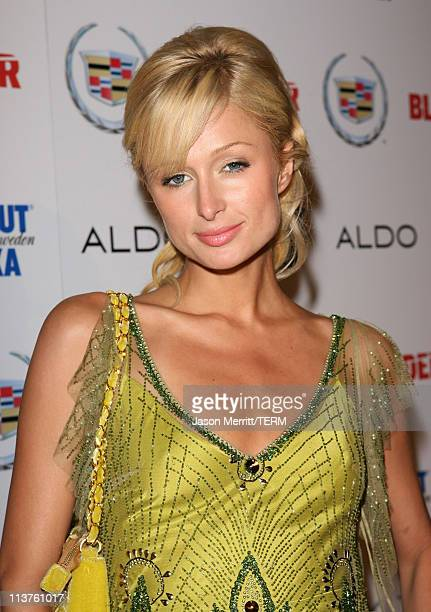 Paris Hilton during Blender Celebrates First Annual Rock Roll Hollywood Issue Arrivals at Private Residence in Hollywood California United States