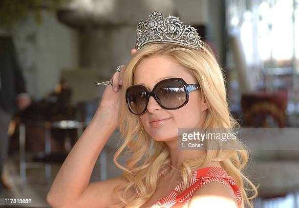 Paris Hilton during Diamond Information Center Presents Diamond Aquifer PreOscar Suite Day 3 at Soho House in Los Angeles California United States...