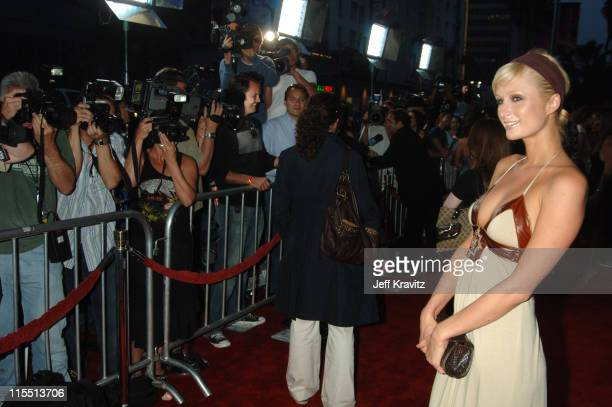 Paris Hilton during Entourage 2006 Season Premiere Red Carpet at Cinerama Dome in Hollywood California United States