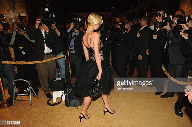 Paris Hilton during HBO 2006 Golden Globes After Party Red Carpet at Aqua Star Pool at the Beverly Hilton Hotel in Beverly Hills California United...