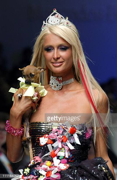 Paris Hilton during Heatherette Fashion Show at The Lot @ The Standard Hotel Downtown in Los Angeles CA United States