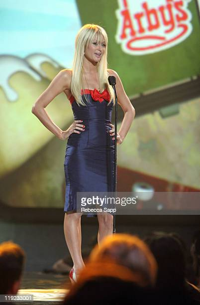 Paris Hilton during Inaugural Arby's Action Sports Awards Red Carpet and Show at Center Staging in Burbank California United States