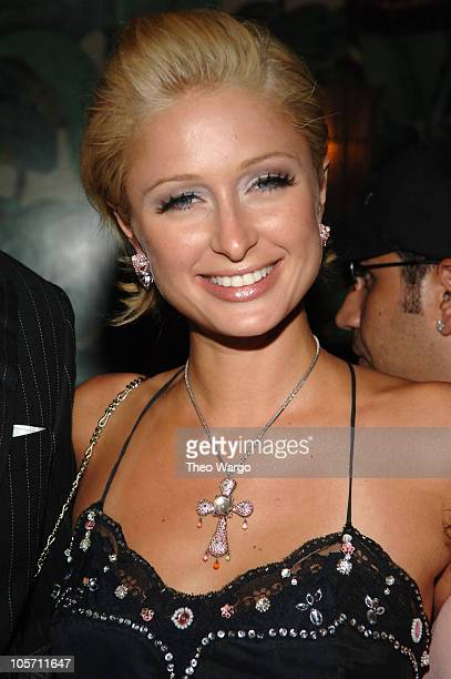 Paris Hilton during Olympus Fashion Week Spring 2006 Rosa Cha After Party Hosted by MAC at Maritime Hotel in New York City New York United States