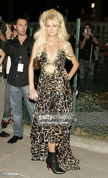 Paris Hilton during Olympus Fashion Week Spring 2007 - Seen at Bryant Park - Day 6 at Bryant Park in New York City, New York, United States.